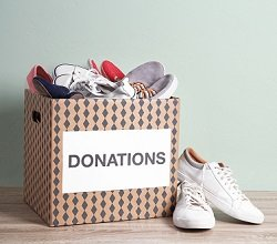 Donating Shoes
