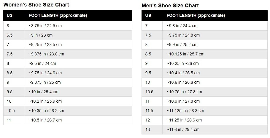 The Official Tennis Shoe Sizing Guide